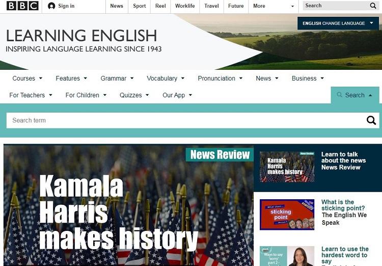 Website học tiếng Anh cho người mất gốc - BBC