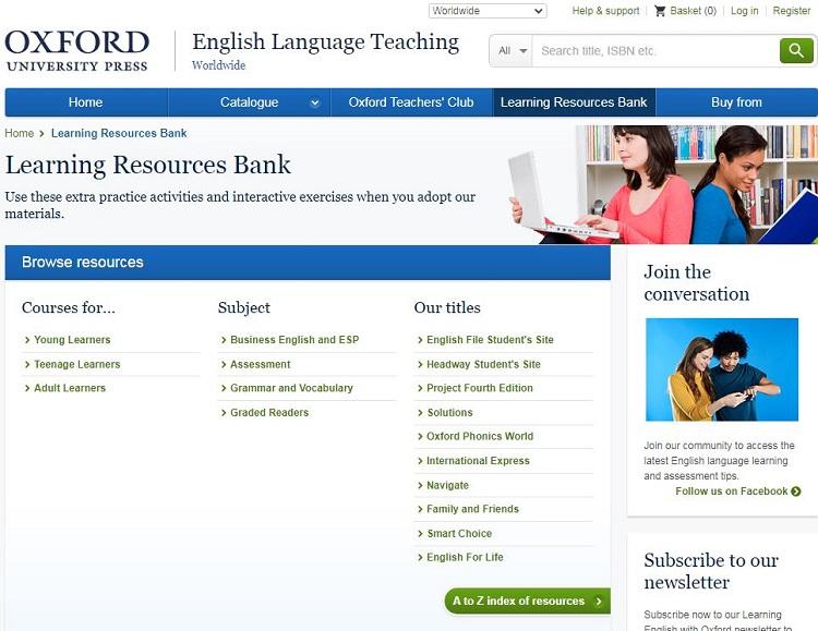 Website cho người mất gốc tiếng Anh - Oxford