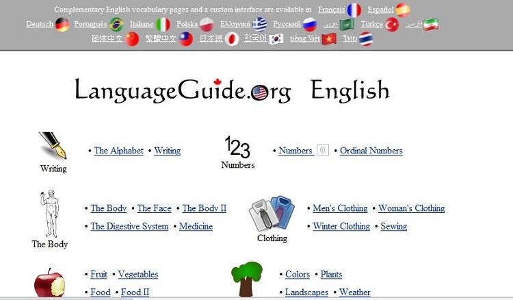 Website cho người mất gốc tiếng Anh