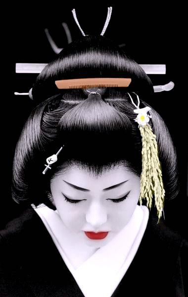 kiểu tóc geisha