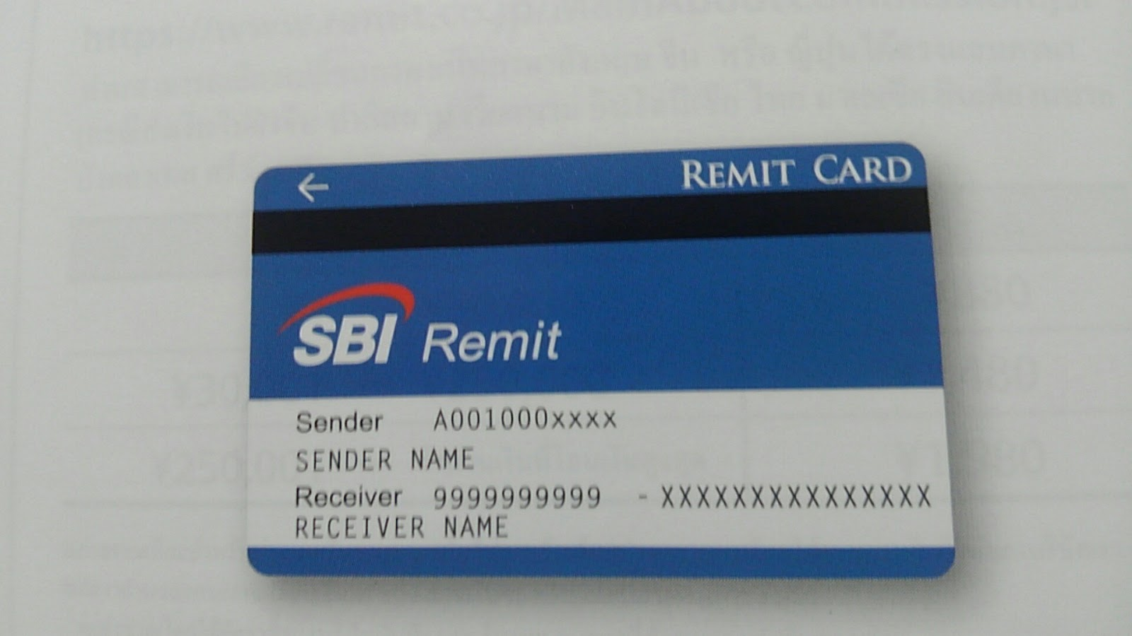 gửi tiền từ Nhật qua thẻ SBI