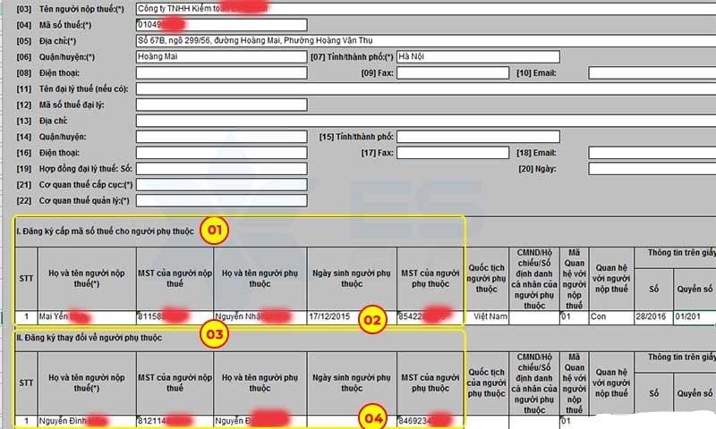 Tra cứu mã số thuế người phụ thuộc