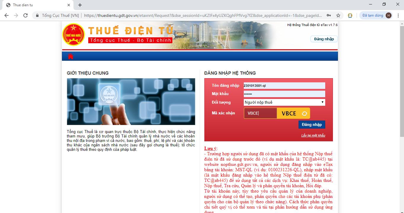 Nộp tờ khai quyết toán thuế TNDN