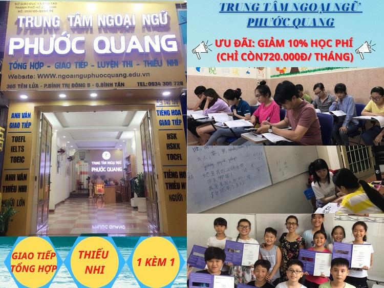 Trung tâm đào tạp tiếng Anh giao tiếp Phước Quang tại TPHCM