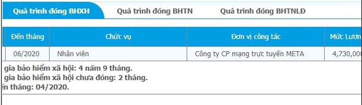 Tra cứu quá trình đóng BHXH