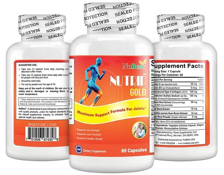 Thực phẩm chức năng hỗ trợ xương khớp của Mỹ - Nutrip Gold
