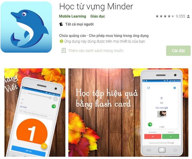 App Học từ vựng Minder